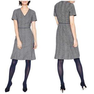 Boden Albany herringbone tweed wool dress NWOT 4